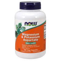Magnesium & Potassium Aspartate - Magnez, Tauryna i Potas (120 kaps.) NOW Foods