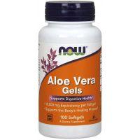 Aloe Vera Gels - Aloes koncentrat z Liści Aloesu 200:1 (100 kaps.) NOW Foods
