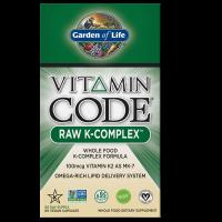 Vitamin Code RAW K-Complex - Witamina K1 + Witamina K2 MK4 + Witamina K2 MK7 (60 kaps.) Garden of Life