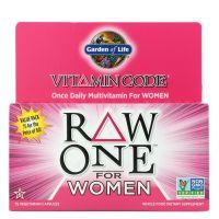 Vitamin Code Raw One for Women - Zestaw Witamin i Minerałów dla Kobiet (75 kaps.) Garden of Life