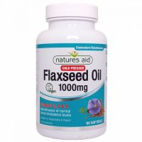 Flaxseed Oil 1000 mg - Olej lniany (90 kaps.) Natures Aid