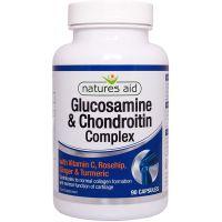 Glucosamine & Chondroitin Complex - Glukozamina z Chondroityną (90 kaps.) Natures Aid
