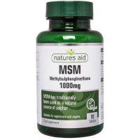 Siarka MSM - Metylosulfonylometan 1000 mg (90 tabl.) Natures Aid