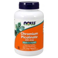 Chromium Picolinate - Pikolinian Chromu (250 kaps.) NOW Foods