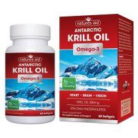 Antarctic Krill Oil - Olej z Kryla 500 mg (60 kaps.) Natures Aid