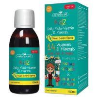 Kidz Daily Multi-Vitamin & Minerals - Witaminy i Minerały dla Dzieci (150 ml) Natures Aid