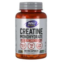 Creatine Monohydrate - Monohydrat Kreatyny 750 mg (120 kaps.) NOW Foods