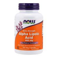 ALA - Kwas Alfa Liponowy 600 mg + Ekstrakt z Winogron + Bioperyna (120 kaps.) NOW Foods