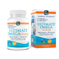 Ultimate Omega CoQ10 - Omega 3 640 mg + Koenzym Q10 50 mg (60 kaps.) Nordic Naturals