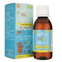 Kidz Omega-3 - Omega 3 o smaku cytrynowym + Witamina D3 (150 ml) Natures Aid
