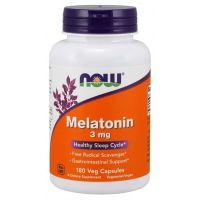 Melatonina 3 mg (180 kaps.) NOW Foods
