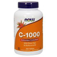 Witamina C 1000 mg z bioflawonoidami i dziką różą (250 tabl.) NOW  Foods