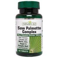 Saw Palmetto Complex - Palma Sabalowa ekstrakt 160 mg (60 tabl.) Natures Aid