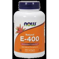 Witamina E 400 IU (250 kaps.) NOW Foods