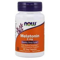 Melatonina 3 mg (60 kaps.) NOW Foods