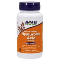 Hyaluronic Acid - Kwas Hialuronowy 100 mg (60 kaps.) NOW Foods