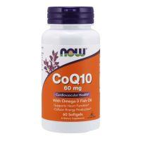 Koenzym Q10 60 mg i Kwasy Tłuszczowe Omega-3 (60 kaps.) NOW Foods