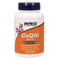 Koenzym Q10 60 mg i Kwasy Tłuszczowe Omega-3 (120 kaps.) NOW Foods