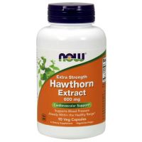 Hawthorn Extract - Ekstrakt z Głogu 600 mg (90 kaps.) NOW Foods
