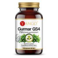 Gurmar GS4® - ekstrakt standaryzowany na 75% kwasów gymnemowych (60 kaps.) Yango
