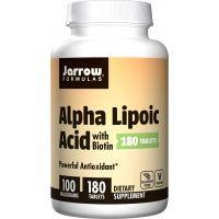 ALA - Kwas Alfa Liponowy 100 mg + Biotyna 330 mcg (180 tabl.) Jarrow Formulas