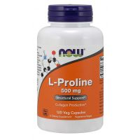 L-Prolina 500 mg (120 kaps.) NOW Foods