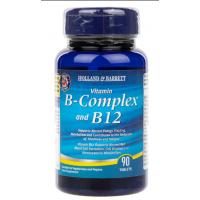 Witamina B-Complex + Witamina B-12 (90 tabl.) Holland & Barrett