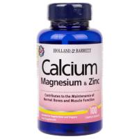 Calcium Magnesium plus Zinc - Wapń, Magnez i Cynk (100 tabl.) Holland & Barrett