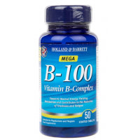 Witamina B-100 - Kompleks Witamin B o przedłużonym uwalnianiu (50 tabl.) Holland & Barrett