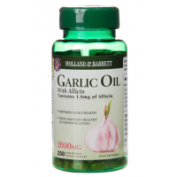 Garlic Oil - Olej z Czosnku ekstrakt 500:1 (250 kaps.) Holland & Barrett