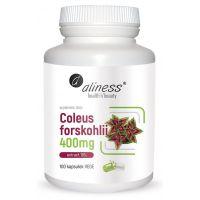 Pokrzywa indyjska (Coleus Forskohlii) - ekstrakt standaryzowany na 10% forskoliny (100 kaps.) Aliness