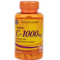 Witamina C 1000 mg z bioflawonoidami i dziką różą (100 tabl.) Holland & Barrett