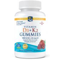 Vitamin D3 + K2 Gummies - Witamina D3 + Witamina K2 Mk7 (60 żelek) Nordic Naturals