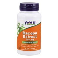 Bakopa (Brahmi) 450 mg - Bacopa Monnieri 40% bakozydów (90 kaps.) NOW Foods