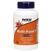 Multi-Food 1™ - Zestaw Witamin i Minerałów (90 tabl.) NOW Foods