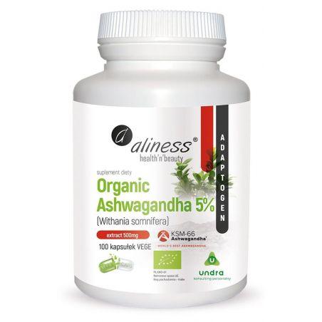 BIO Ashwagandha KSM-66 500 mg (100 kaps.) Aliness