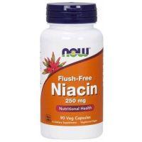 Witamina B3 - Niacyna (Niacin Flush-Free) 250 mg (90 kaps.) NOW Foods