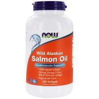 Wild Alaskan Salmon Oil - Kwasy Omega 3 DHA EPA (200 kaps.) NOW Foods