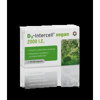 Wegańska Witamina D3 2000 IU - Cholekalcyferol 50 mcg (90 kaps.) Intercell Pharma