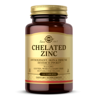 Chelated Zinc - Chelat Aminokwasowy Cynku 22 mg (100 tabl.) Solgar