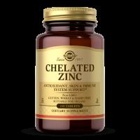 Cynk - Chelated Zinc/ Chelat Aminokwasowy Cynku 22 mg (100 tabl.) Solgar