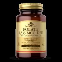 Folate - Folian L-Metylofolian - Metafolin 800 mcg (100 tabl.) Solgar