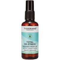 Total De-Stress Massage & Body Oil - Olejek do masażu/ Geranium + Pomarańcza + Gałka muszkatołowa (100 ml) Tisserand
