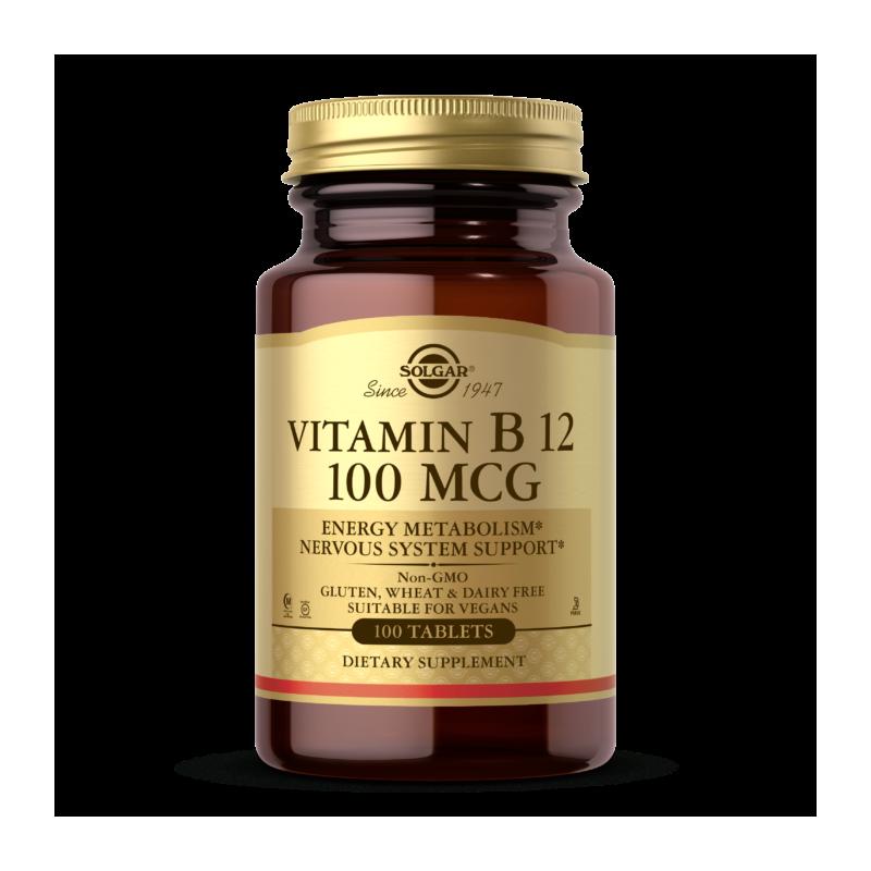 Vitamin B12 - Witamina B12 /cyjanokobalamina/ 100 mcg (100 tabl.) Solgar