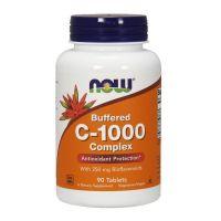 Buforowana Witamina C 1000 mg + Bioflawonoidy Cytrusowe 250 mg (90 tabl.) NOW Foods