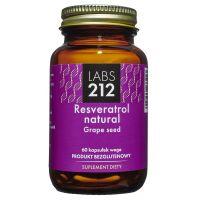 Resveratrol Natural + Grape Seed - Resweratrol naturalny z ekstraktem z nasion winorośli 98% (60 kaps.) Labs212