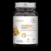 Omega+ dla dzieci (kapsułki twist-off) - Kwasy Omega 3 180 EPA 120 DHA + Witamina D3 800 IU (60 kaps.) Aura Herbals