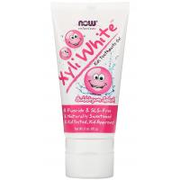Pasta do zębów dla dzieci o smaku gumy balonowej - XyliWhite™ Bubblegum Splash Toothpaste Gel (85 g) NOW Foods