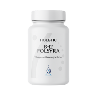 B-12 Folsyra - Witamina B12 1000 mcg + Kwas foliowy 400 mcg do ssania (90 tabl.) Holistic