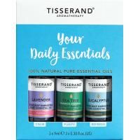 Your Daily Essentials Kit - Zestaw olejków eterycznych Lawenda + Drzewo herbaciane + Eukaliptus (3 x 9 ml) Tisserand